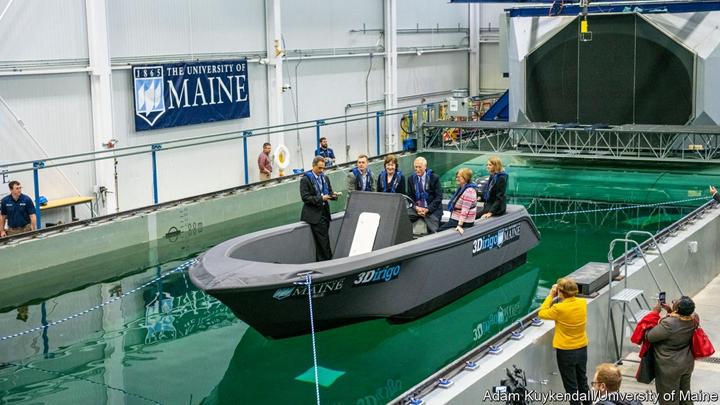 圖示:美國緬因大學的3D列印船